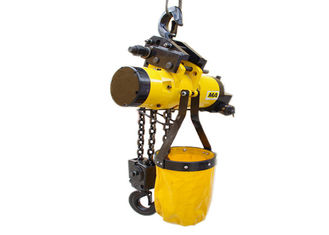 0.1 ton - 50 tons Explosion Proof Chain Hoist Yellow Alloy Steel OEM / ODM