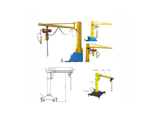 0.125 Ton Electric Jib Crane , Alloy Steel Mobile Jib Crane 0.125 Capacity